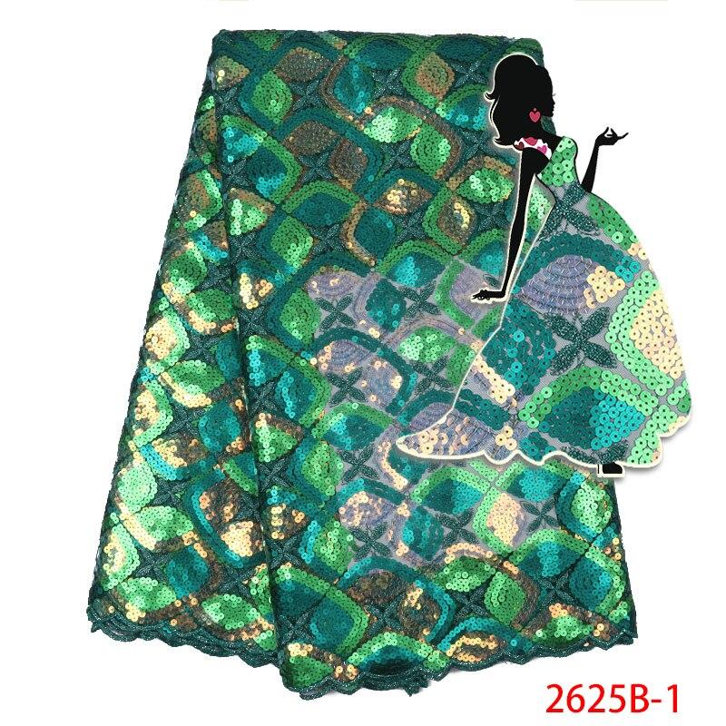 나이지리아 레이스 패브릭 2019 고품질 레이스 스팽글 Tulle 레이스 원단 프랑스 Organza Tulle 레이스 원단 드레스 AMY2625-에서레이스부터 홈 & 가든 의  그룹 1