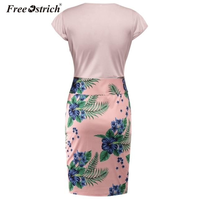 Free Ostrich Summer Dress Women Plus Size Sexy Vintage Elegant Floral Pencil Dresses Print Women Dress Bodycon Vestidos N30 3