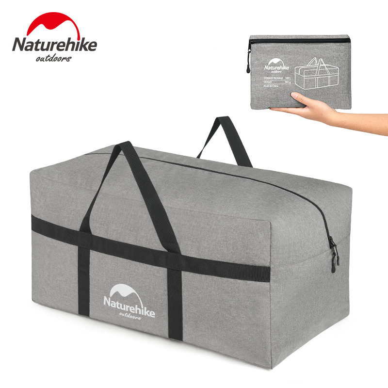 100L Naturehike Ultralight Extra Large Duffle Bag Outdoor Durable Bags Folding Duffel Bag Portable for Men Women Travel Camping