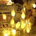 Guirlanda LEVOU Seqüência de Luz 10 m 100led 110 V/220 V Do Casamento Do Jardim Decoração Da Lâmpada de Natal e Festa de Aniversário luz da decoração