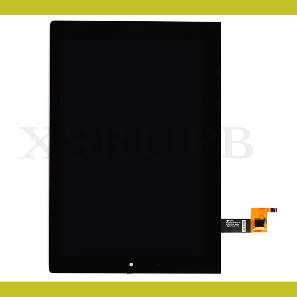 For Lenovo Yoga Tablet 2 1051 1051L LCD Display Panel Touch Screen Digitizer Glass Lens Assembly With Black Frame Replacement vibe x2 lcd display touch screen panel with frame digitizer accessories for lenovo vibe x2 smartphone white free shipping track