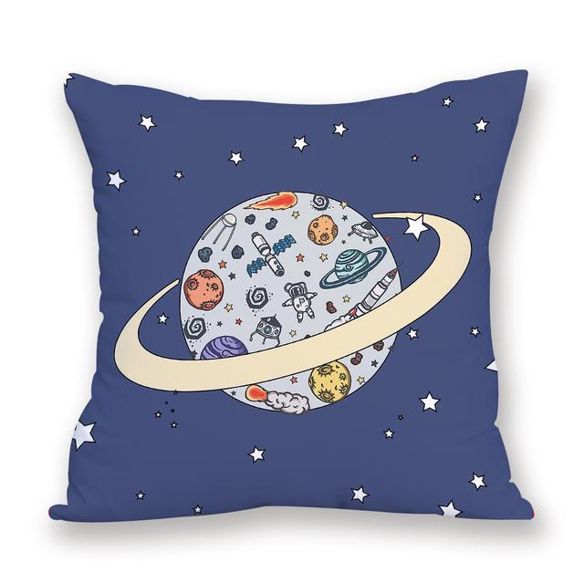 Space pillow home cushions 2018 New cushion universe sun planet cushion custom pillowcase decorative pillow cover spaceship