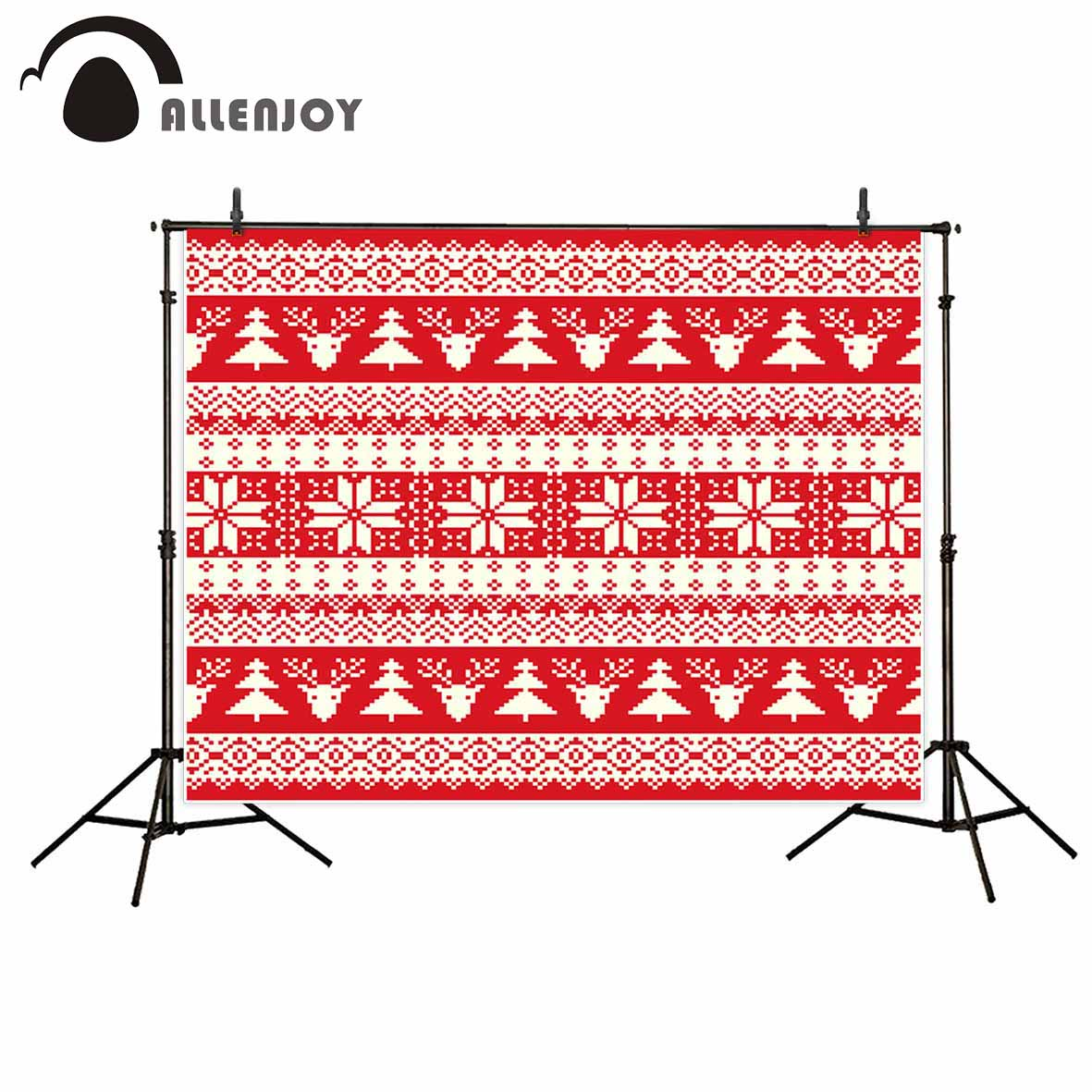 Allenjoy photographic background vintage old elk Christmas tree classical new born backdrop photocall photo printed customize