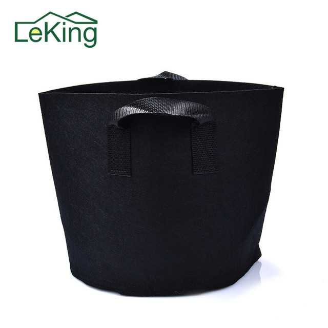 20 30 Gallons Round Non Woven Fabrics Black Nursery Pots Container Grow Bags Planting