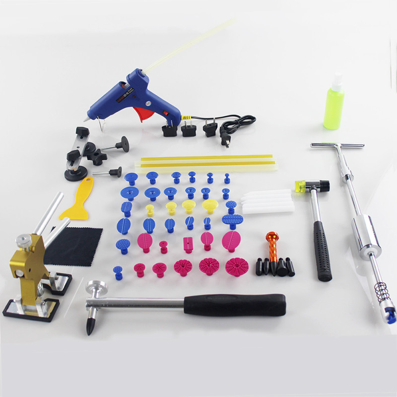 PDR Tools Set Dent Removal  Paintless Dent Repair Tools Dent Lifter Dent Puller Kit PDR Glue Sticks Puller Tabs Suction Cup  pdr tools for car kit dent lifter glue tabs suction cup hot melt glue sticks paintless dent repair tools hand tools set