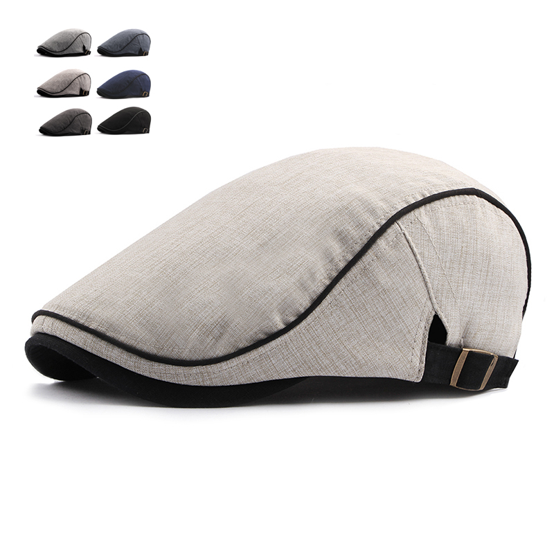 Fashion Summer Beret Caps For Men Women Cotton Visors Sun Hat Outdoor Mens Flat Caps Adjustable Berets Casquette Boina Caps(China)