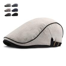 Модные летние береты, кепки для мужчин и женщин, хлопковые козырьки, шляпа от солнца, уличные мужские плоские шапки, регулируемые береты, Casquette Boina, шапки