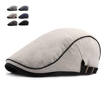 8862c2deff236 De moda de verano Boina para los hombres de algodón de las mujeres viseras  sombrero de sol al aire libre para hombre gorras planas ajustable boinas  gorra ...