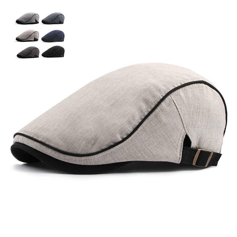 Moda yaz bere kapaklar erkekler kadınlar pamuk siperliği güneş şapkası açık erkek düz kapaklar ayarlanabilir bereliler Casquette Boina kapaklar