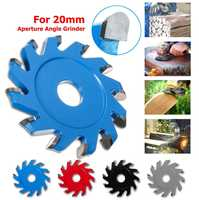 Hexagonal Wood Grinder Tray Blade Angle Grinder attachment For 20mm Aperture Angle Grinder 12-teeth U-type Teeth Blade