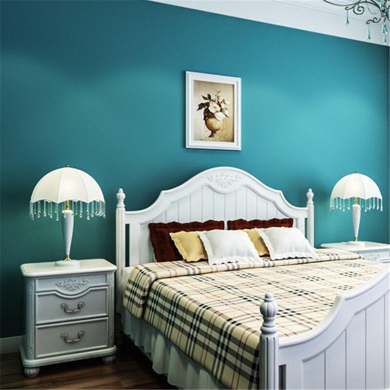 plain dark bedroom living tv backdrop mediterranean beibehang woven non children
