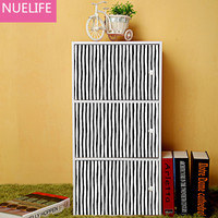 360pcs black and white stripes interval pattern wall stickers kids bedroom study room sofa TV background decoration stickers