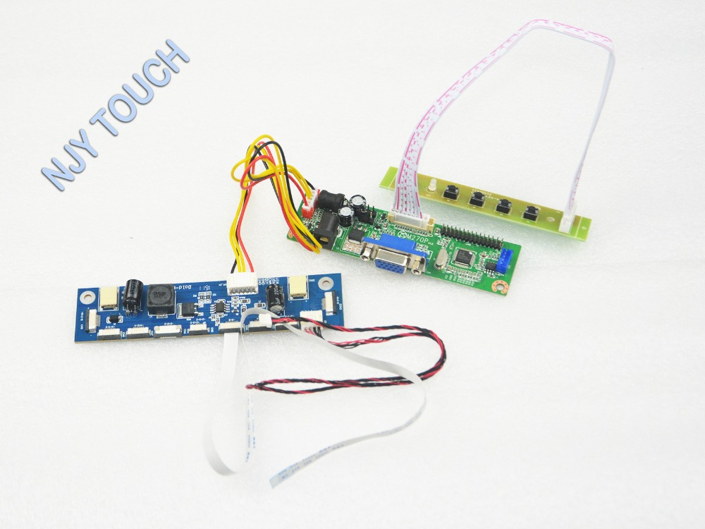 V.M70A VGA Universal LCD Controller Board DIY Kit For M185B3-LA1 M185B3 LC1 18.5 inch 1366x768 LED 7083K-F12N-00L LVDS TFT LCD 31x12x3 inch universal turbo fmic intercooler 3 inch piping kit toyota supra mkiii mk3 7mgte