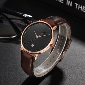 Image 3 - CL026  Black Rose Gold Build Brand Your Own Watch Custom Design OEM Logo Printed Watch Men Wrist Calendar Minimalist Watch