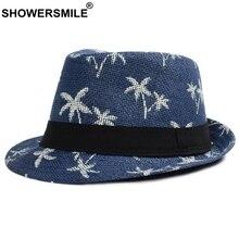 SHOWERSMILE impresión sol sombreros para hombres Marina Playa de paja de  verano Jazz sombrero hombre Inglaterra 3bc0c8a65b1