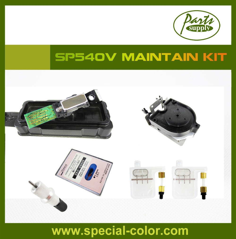 Roland SP540V Maintain Kit (Original DX4 Solvent Printhead+Big Damper+U Ink Pump+Cutting Blade+Blade Holder) big ink damper dx5 big filter damper for roland mouth mimaki dx4 sj1000 xc540 sj640 xj640 jv3 jv4 jv22 printer big mesh damper
