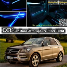 For Mercedes Benz M MB W163 W164 W166 interior Ambient Light Tuning Atmosphere Fiber Optic Band Lights Inside Door Panel Refit