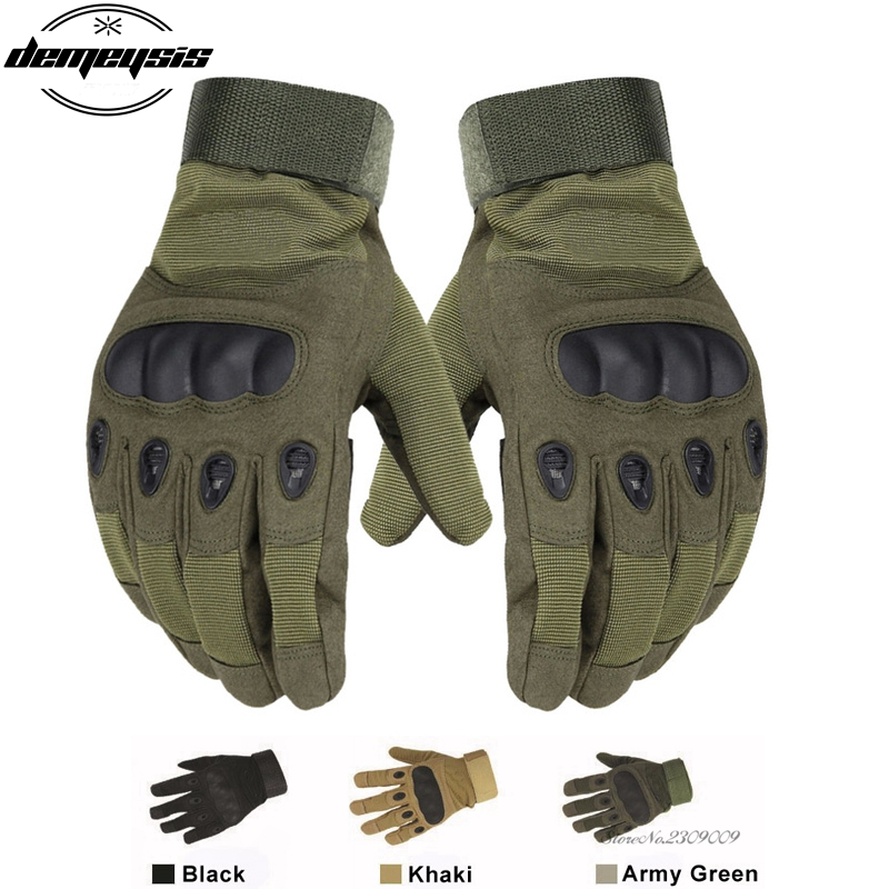 Tactical Gloves Full Finger Military Army Paintball Outdoor War Game Sports Gloves Anti-slip Tactical Gloves Sports HikingGloves image