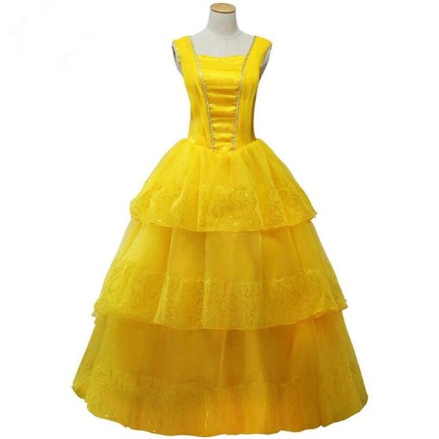 Neue Film Schönheit und das Biest Belle Gelbes Prinzessin Kleid ...