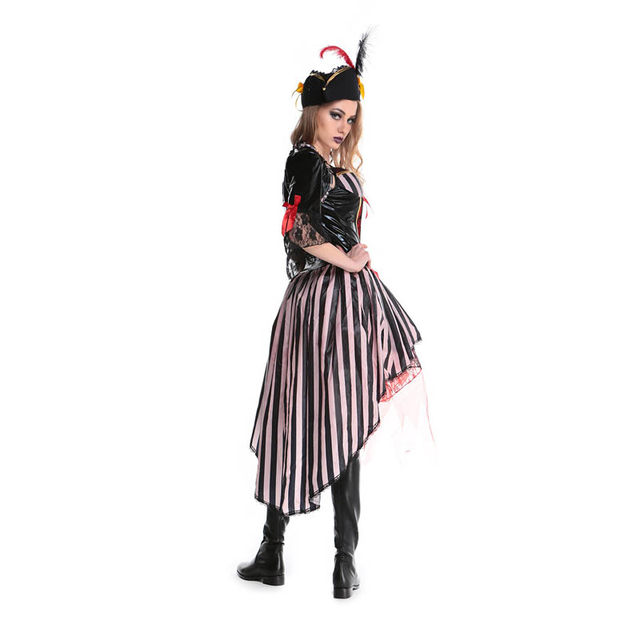 Deluxe Halloween Women Pirates Of Caribbean Costume Buccaneer The Vikings Fancy Dress  sc 1 st  Aliexpress & Online Shop Deluxe Halloween Women Pirates Of Caribbean Costume ...