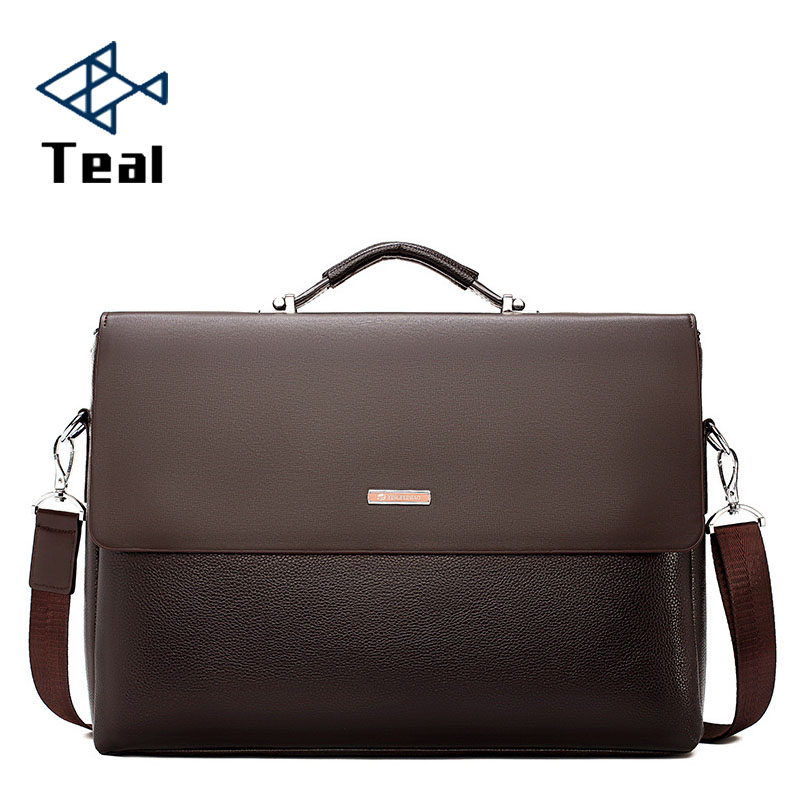 2019 Fashion Business Men Briefcase Leather Laptop Handbag Tote Casual Man Bag For male Shoulder Bag Male Office Messenger Bag