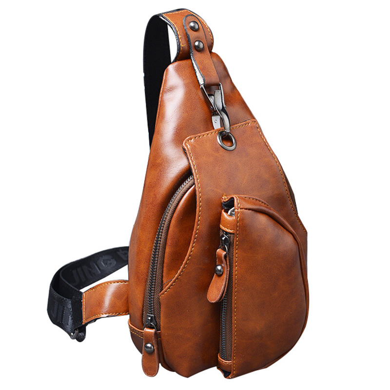 Trendy New Men Messenger Bags Business Chest Pack Functional Travel Bag Pack Shoulder Strap Crossbody Bags For Male Leather Bags men military chest bag high quality man laptop crossbody bags nylon male travel back pack waterproof big shoulder messenger bags