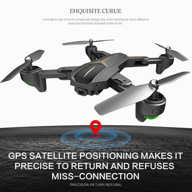 GPS 5G WiFi FPV With 4K FHD Camera 15 mins Flight Time Foldable RC Drone Quadcopter RTF Kids Birthday Gift