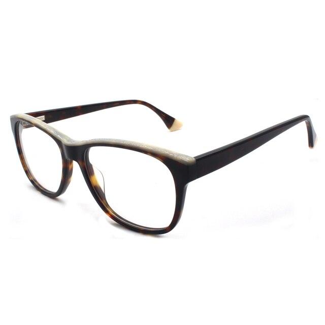 HOTOCHKI جديد جودة عالية البصرية للجنسين كبيرة أنيقة نظارات نظارات بمادة الخلات إطارات الرجال النساء موضة صندوق كبير النظارات الإطار