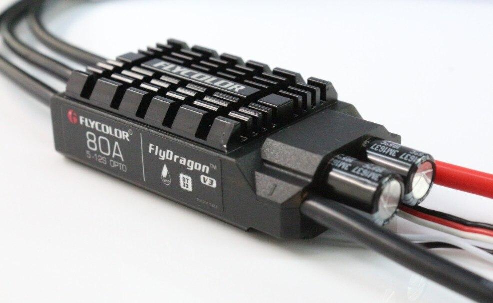 Étanche Haute Tension sans balai esc 80A HV régulateur de vitesse Soutien 5-12 S pour drone rc quadrirotor