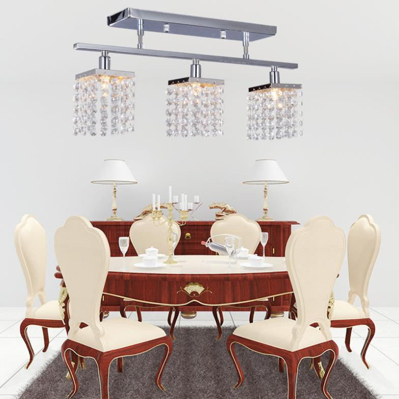 New Modern Flush Mount 75W Led Crystal Chandeliers Lighting Fixtures with 3pcs G9 Lights home decoration D50*H25CM