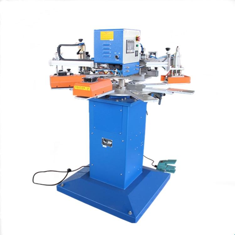Automatico 2 colori 8 workstation 25 centimetri * 30cm Formato di Stampa T-Shirt schermo della macchina di stampa