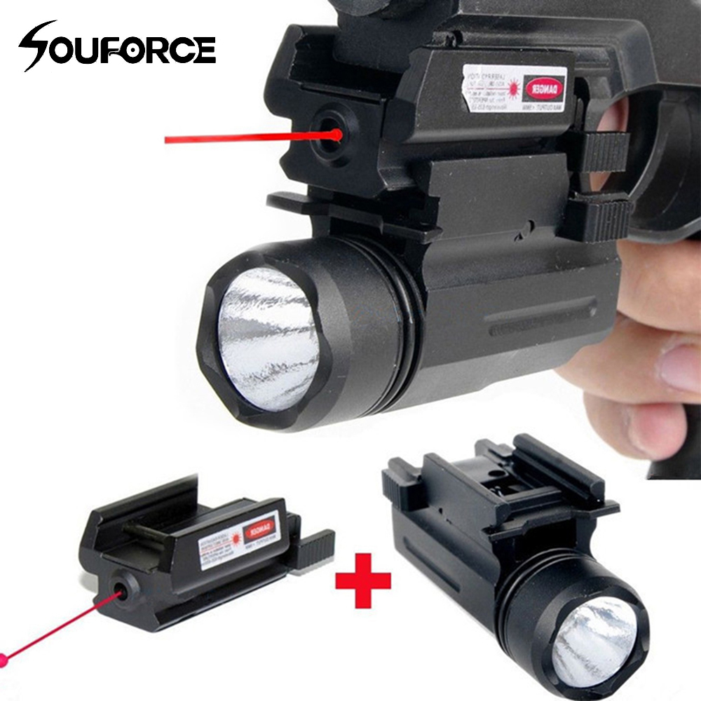 Tactical Rifle Lights With Red Laser Sight Glock