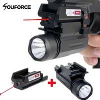Tactical Rifle Lights với Red Laser Sight Glock Flashlight Combo Săn Bắn Laser đối Pistol Guns Glock 17,19, 22 Series