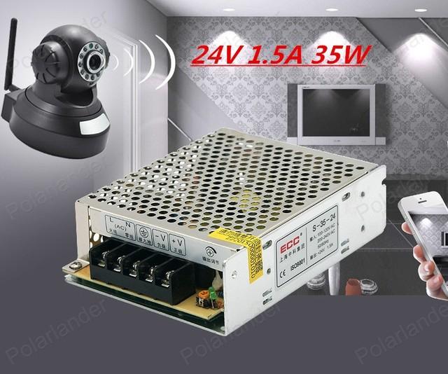 Universal 35 W 24 V 1.5A Fuente de Alimentación Conmutada Transformador 100 v-240 v AC a dc para Iluminación Luz de Tira LLEVADA AC-DC