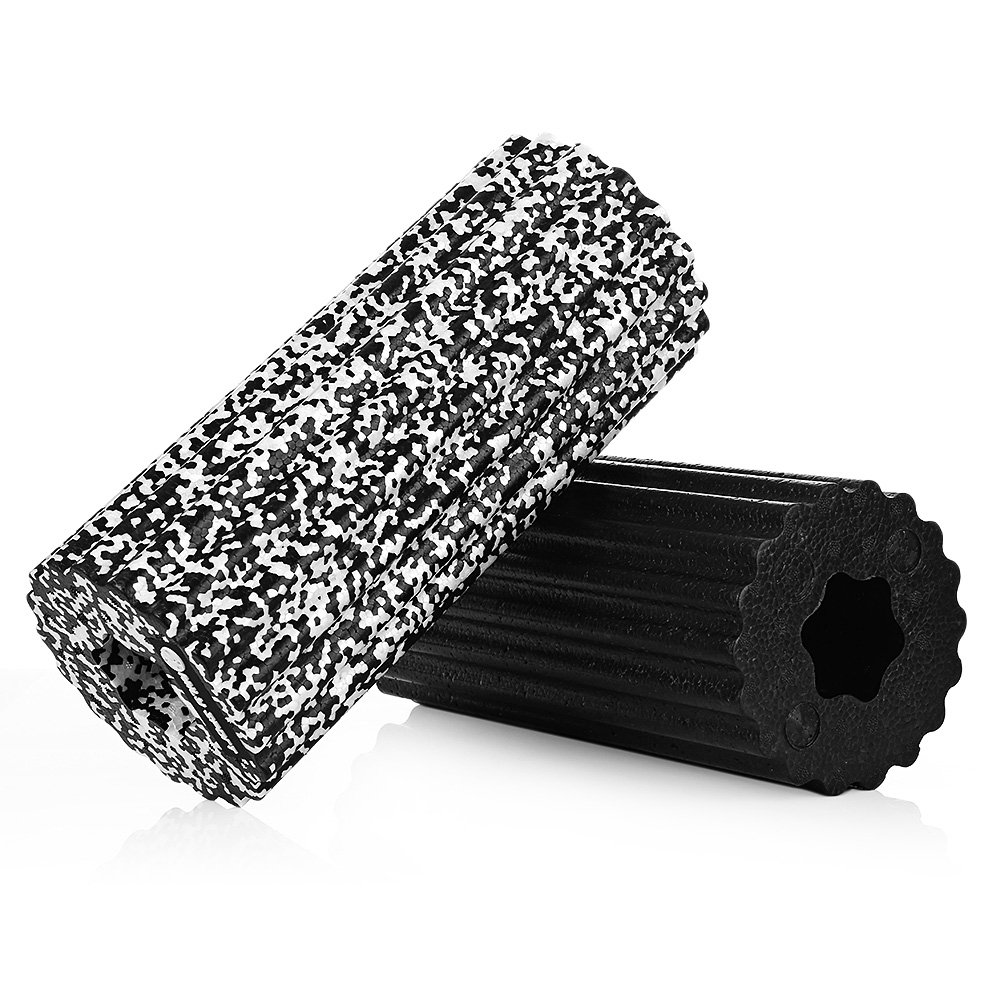 Physical Therapy Yoga Fitness Exercise Household Black And Dark Gray Sliding Bubble Foam Roller/Pulleys 1pcs/lot