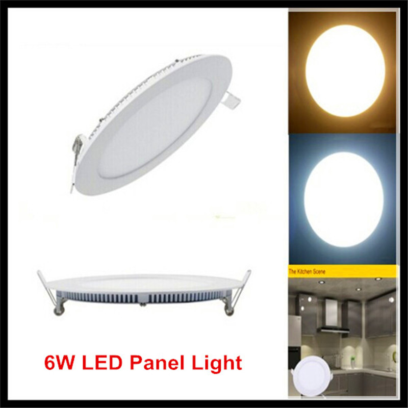 10PCS 6W LED Lamp Panel Light 6W AC85~265V LED Panel Ceiling Light Round Square Panel Lights SMD2835 for Home Lighting