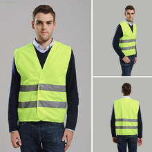 VWEN-01 High Visibility Reflective Safety Tops Vest ANSI/ ISEA EN Standard Color Neon Yellow Orange Large One Size Fit Most(China)