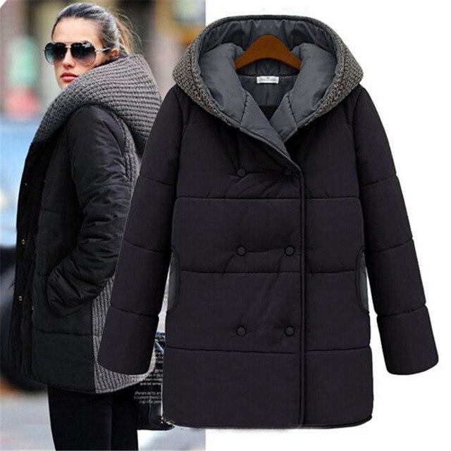 Women s Winter Jacket Europe Style Parka Women Jackets Down Cotton Long  Overcoat Slim Hooded Plus Size Coats Outwear M26 4618392a6