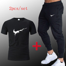 2019 Sport Suit Men T-shirt + pants Sports Suits Gym sportswear Mens Autumn Fitness Tracksuits Running Set Jogging Tracksuit туфли marco tozzi marco tozzi ma143aweacf6