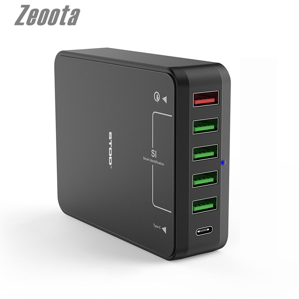 Zeoota Quick Charge 3.0 USB Charger Type C USB-C Port For iPhone iPad Samsung Galaxy S6 S7 S8 Edge Huawei AC Adapter tronsmart ts cc2pc quick charge 2 0 two port car charger for galaxy s6