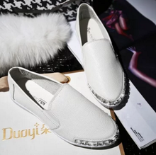 Free shipping new fall shoes flat stones set foot loafers casual shoes white shoes female models