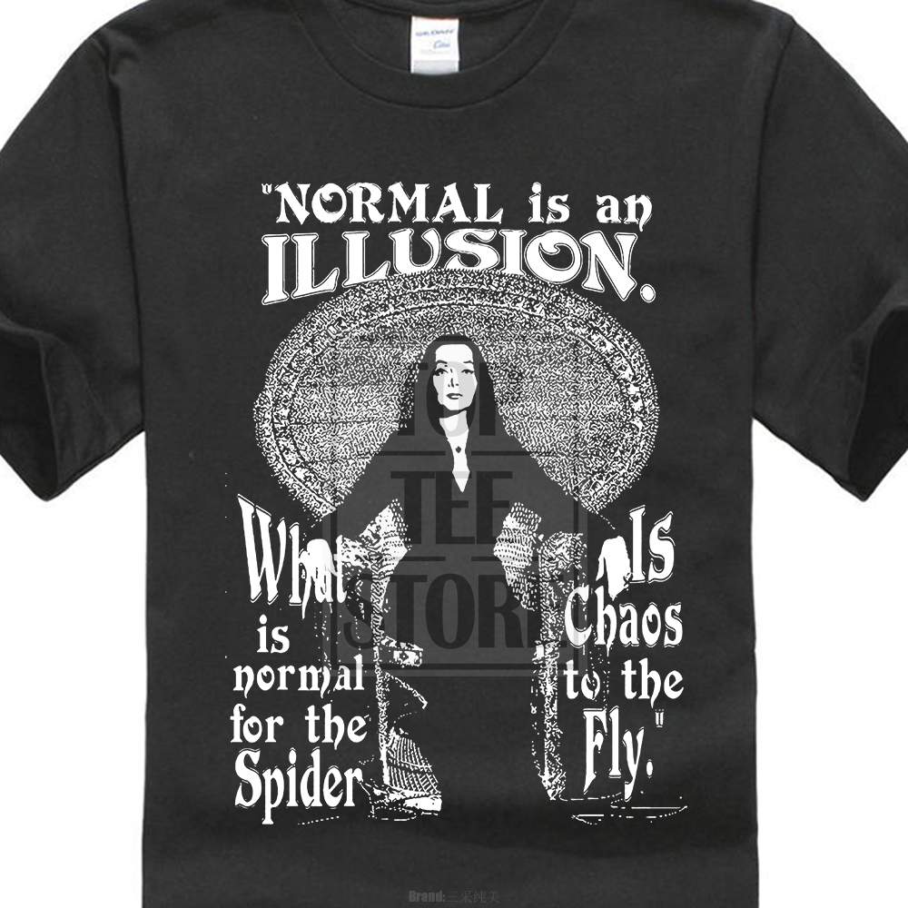 Morticia Addams Normal Is An Illusio Classic Movie T Shirt Size S To 3Xl