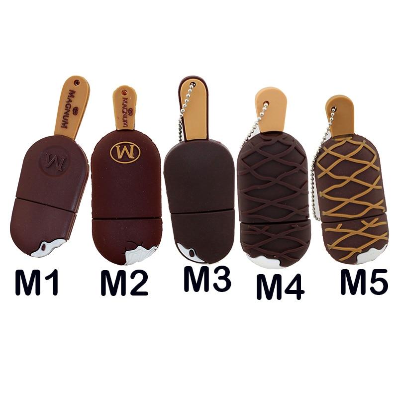 5 stijlen Nieuwe leuke ijs pendrive usb flash drive pen drive 4 GB 8 GB 16 GB 32 GB Memory Stick USB 2.0 helados U disk geschenken