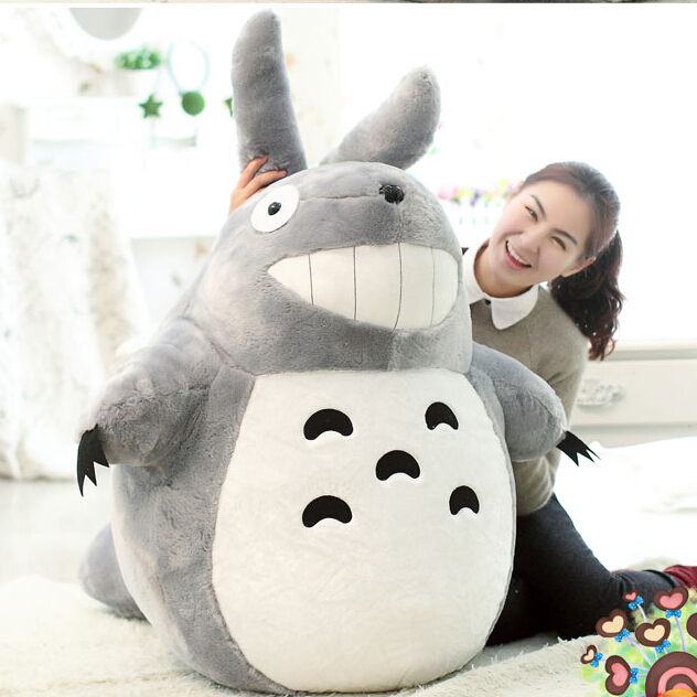 Hot Sale Sitting Size 45cm  Famous Cartoon Totoro Plush Toys Soft Stuffed Brinquedos Dolls High Quality Factory Price