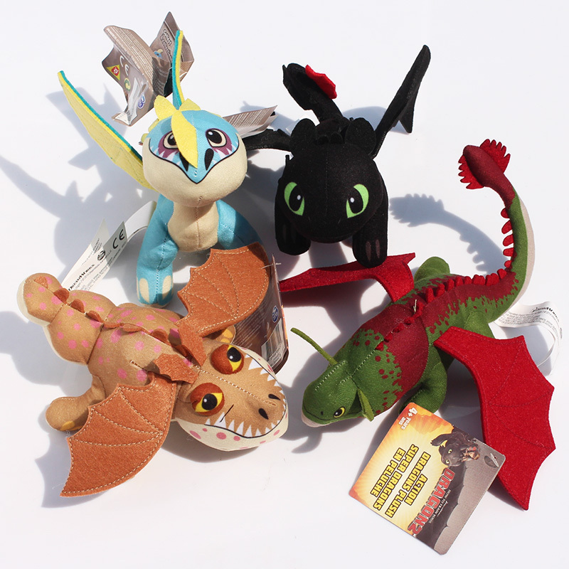 8inch How To Train Your Dragon 2 Toothless Night Fury Skull Crusher Gronkle Meatlug Stormfly Plush toy мини фигурка dragons toothless 66562 20064923