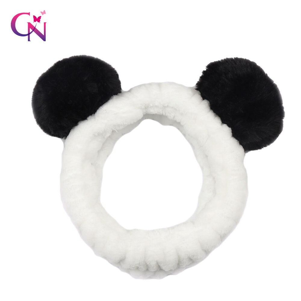 Women's Hair Accessories Lovely Fleece Spa Women Wrap Makeup Shower Soft Mask For Washing Face Headband Cute Panda Ear Shower Hair Band Carol Head