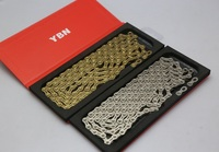 YBN SLA H11 11 Speed Chain for Shimano Sram Campagnolo silver/gold 116link