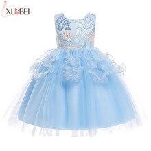 Милое бальное платье с аппликацией; Платья с цветочным узором для девочек; коллекция года; пышные платья из тюля для девочек; Детские платья для выпускного вечера; vestidos infantil de festa