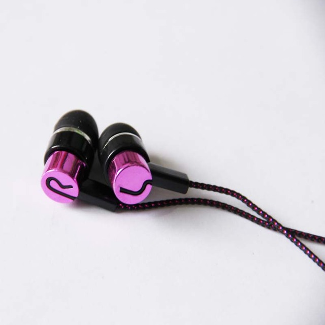 MP3/mp4 Roping Stereo Earphone Noise Isolating Reflective Fiber Cloth Line 3.5mm In-ear Earphone For xiaomi Earbuds Auriculares