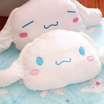 Plüsch Babydecke | 1 Stück 145 Cm Cinnamoroll Lustige Weiße Hund Plüsch Puppe Korallen Fleece Rest Büro Kissen + Decke Stofftier Romantische Geschenk Für Baby